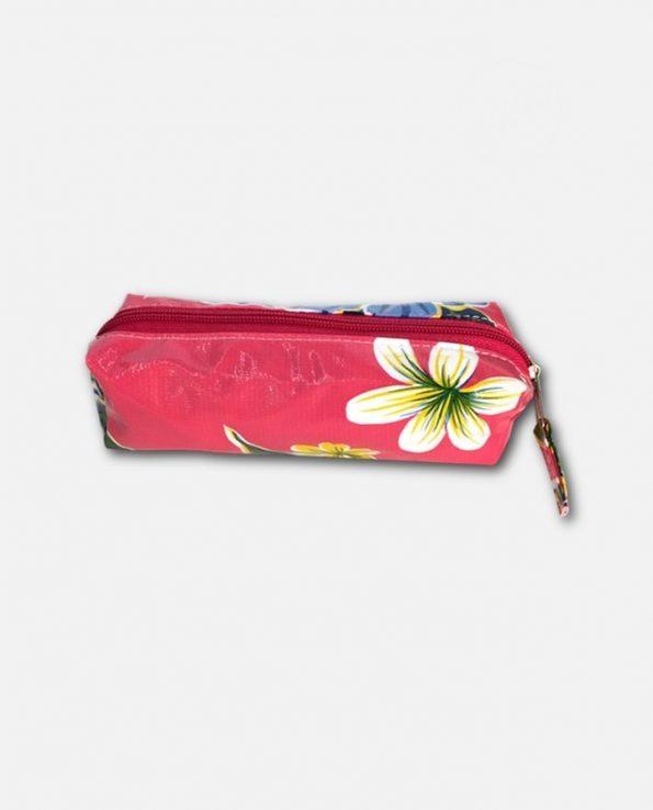 Trousse écolier toile cirée mexicaine rose