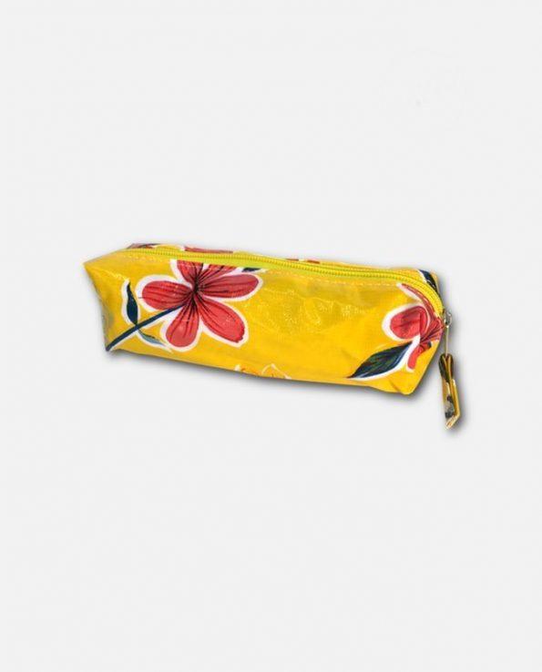 Trousse écolier toile cirée mexicaine jaune
