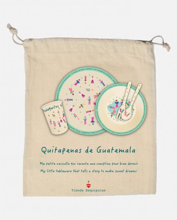 Pochon set enfant poupées tracas du Guatemala