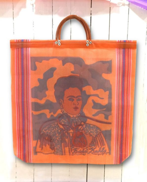 Cabas nylon Les deux Frida, orange