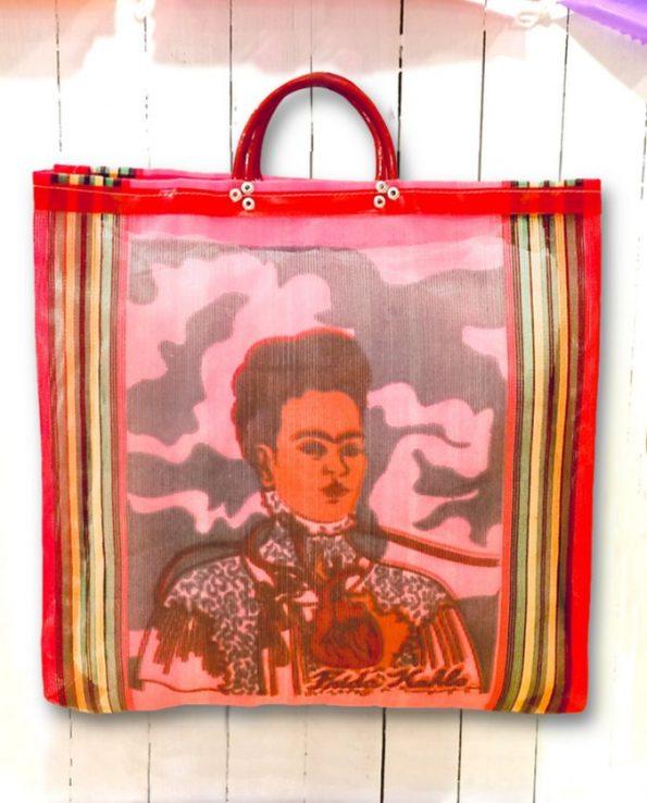 Cabas nylon Les deux Frida, rouge