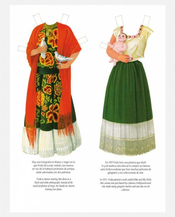 Personnage à découper Frida Kahlo - costumes