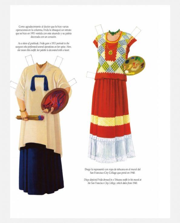 Personnage à découper Frida Kahlo - costumes 2