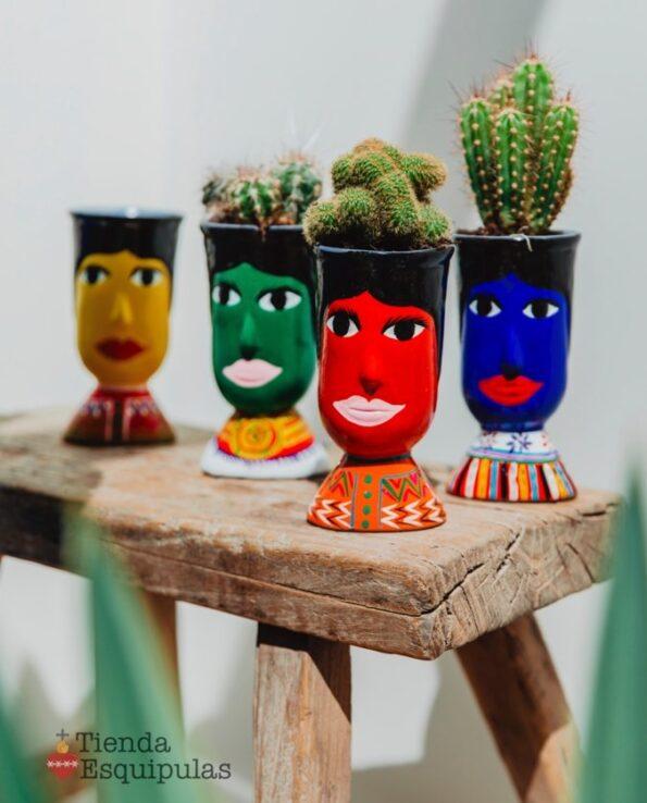 Pots décoratifs tête de géant du Guatemala