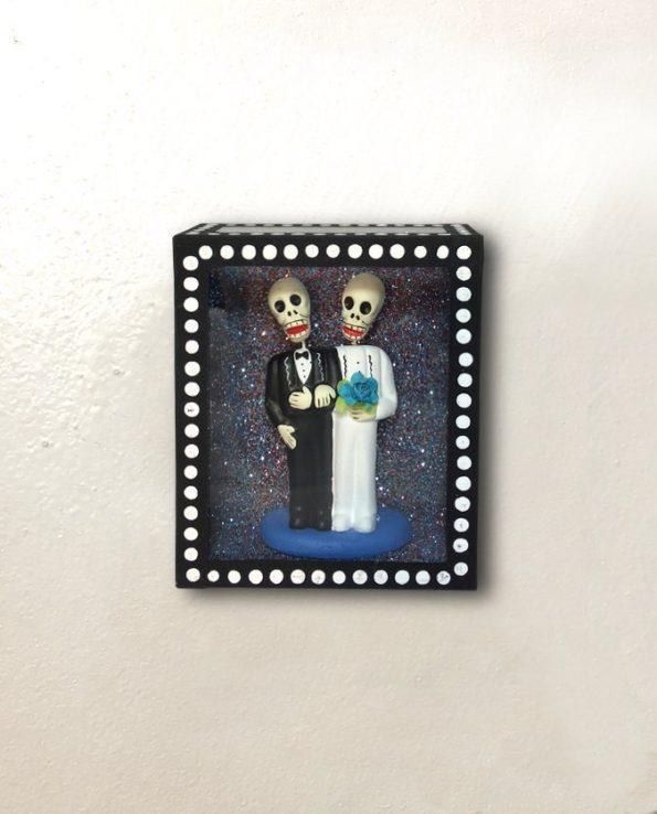 Vitrine mexicaine amor eterno couple hommes