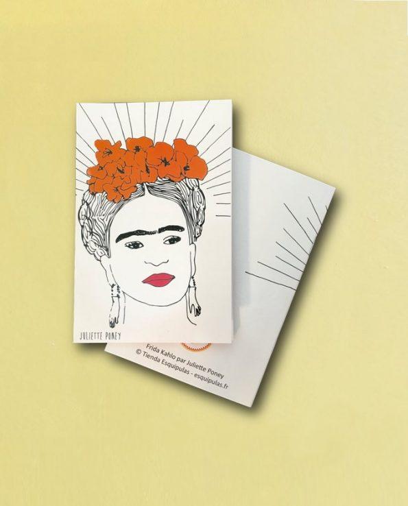 Carnet Frida Kahlo visage rayonnant