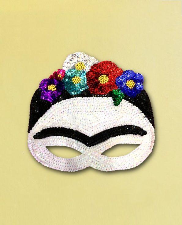 Masque paillettes Frida Kahlo fait main