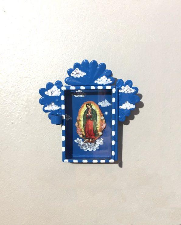 Niche vitrine mexicaine Guadalupe dans les nuages