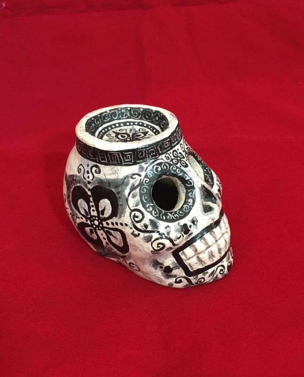 Porte bougie vanité du Guatemala – Blanc - profil