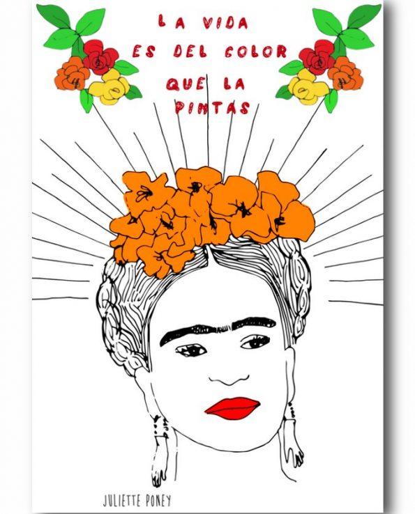 Carte postale Frida Kahlo
