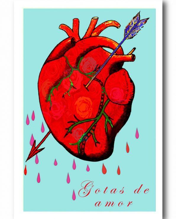 Carte postale Gotas de Amor
