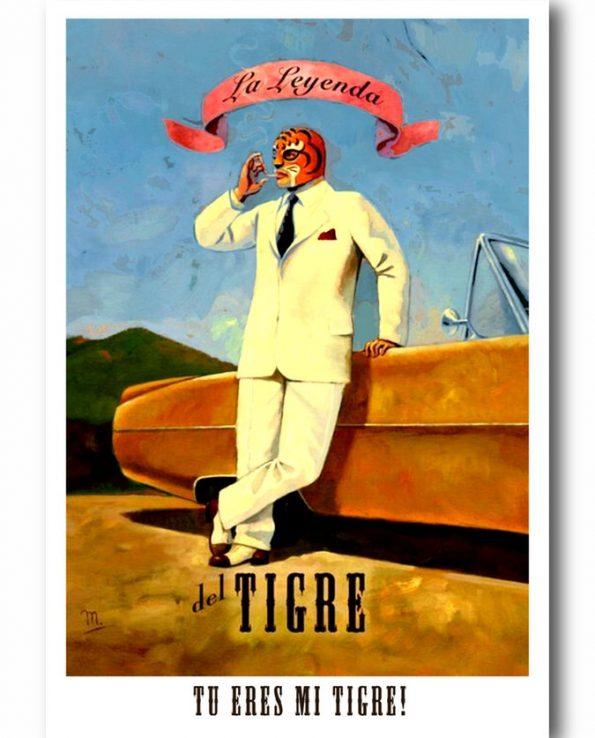 Carte postale tu es mon tigre