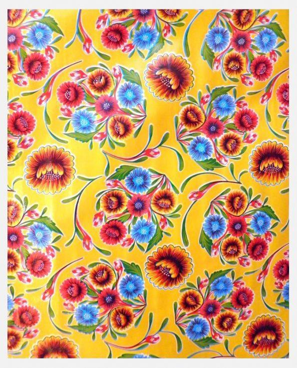 Toile cirée mexicaine Dulce flor jaune