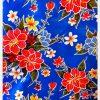 Toile cirée mexicaine Hibiscus bleu nuit