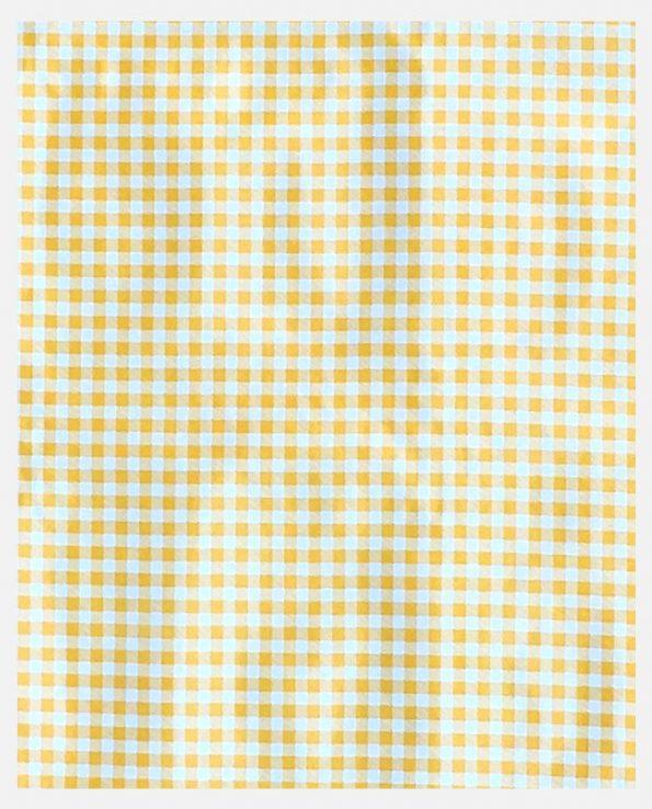 Rouleau de toile cirée mexicaine motif carreaux Vichy jaunes