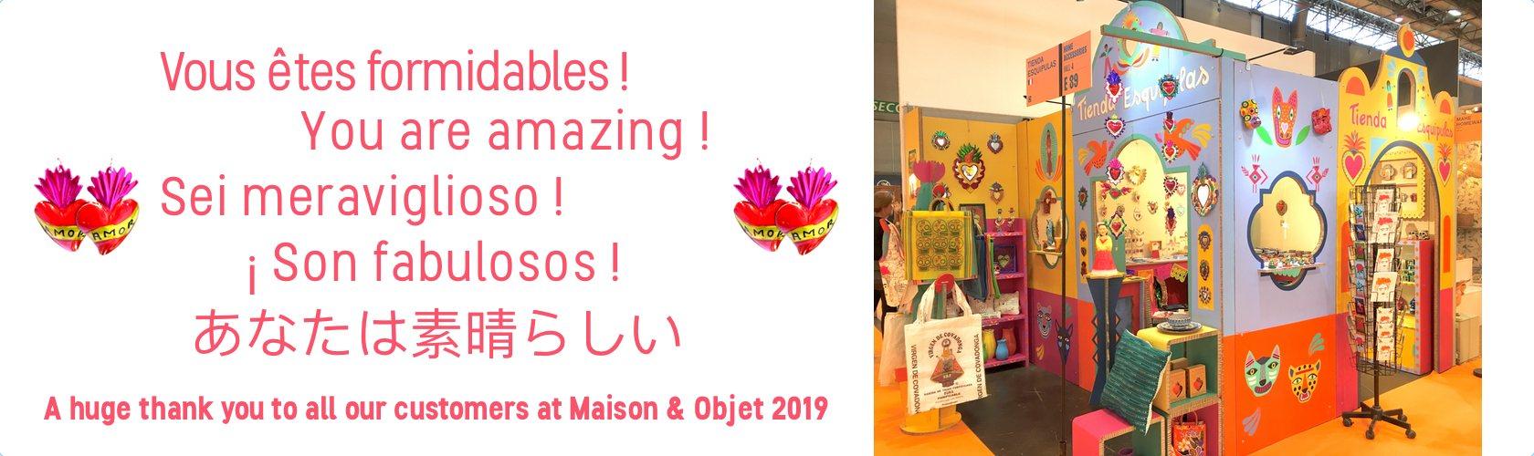 Remerciement Tienda Esquipulas Maison et Objet 09 2019