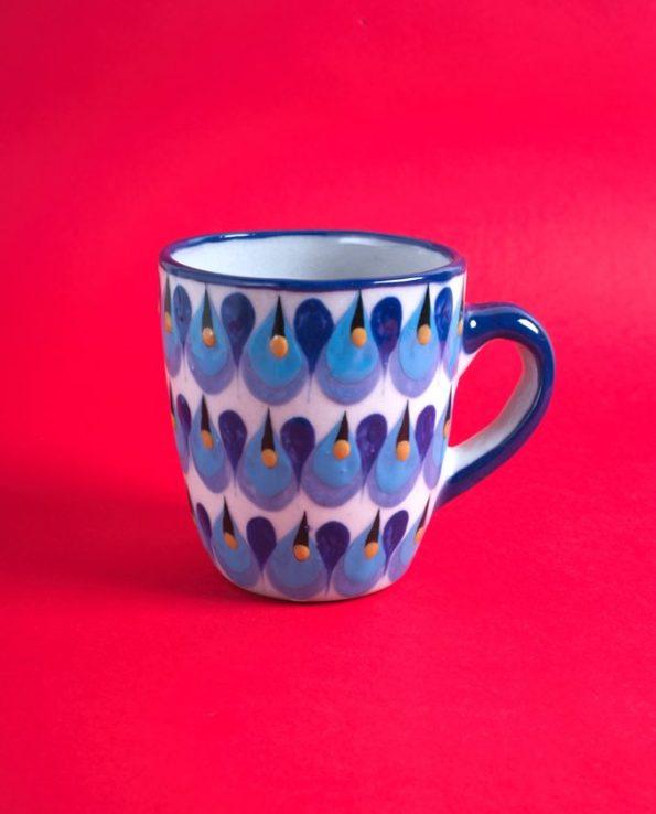 Mug en céramique traditionnelle du Guatemala - motif gouttes