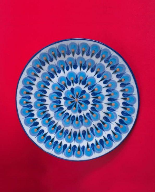 Assiette en céramique traditionnelle du Guatemala
