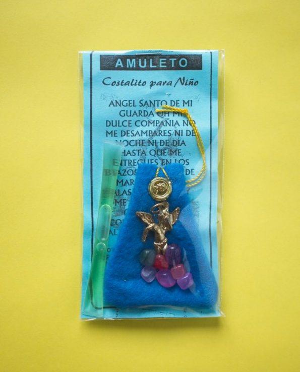 Amulette de la chance (carton de12 unités) - Angel de la guardia - détail