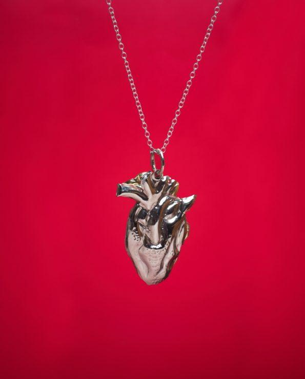 Pendentif coeur anatomique - Argent