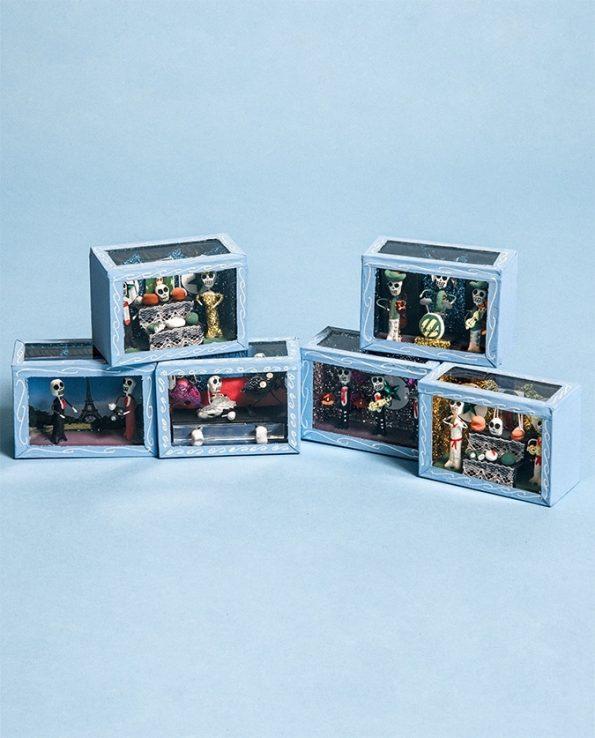 Mini vitrine squelettes mexicaine