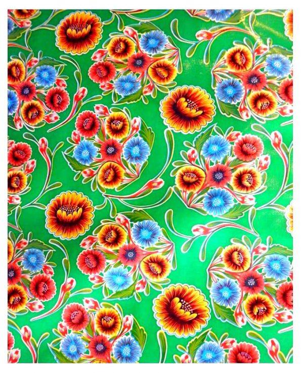 Toile cirée mexicaine dulce flor vert