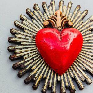 Grand coeur rayonnant