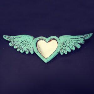 Coeur miroir ailé écoresponsable - 1x1