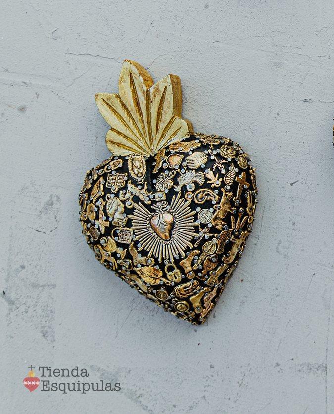 Coeur serti mini – Noir