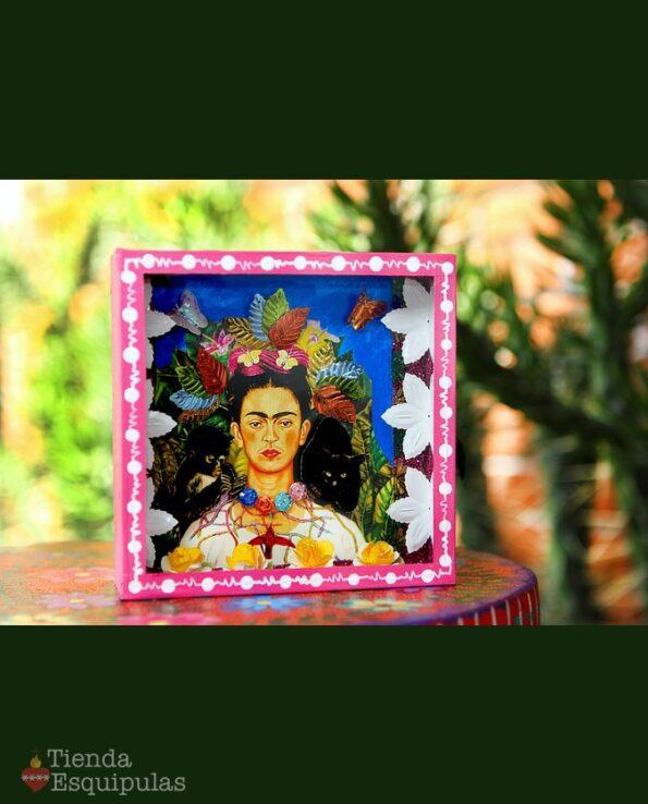 Vitrine autoportrait Frida Kahlo - Autorretratro con collar de espinas y colibrí