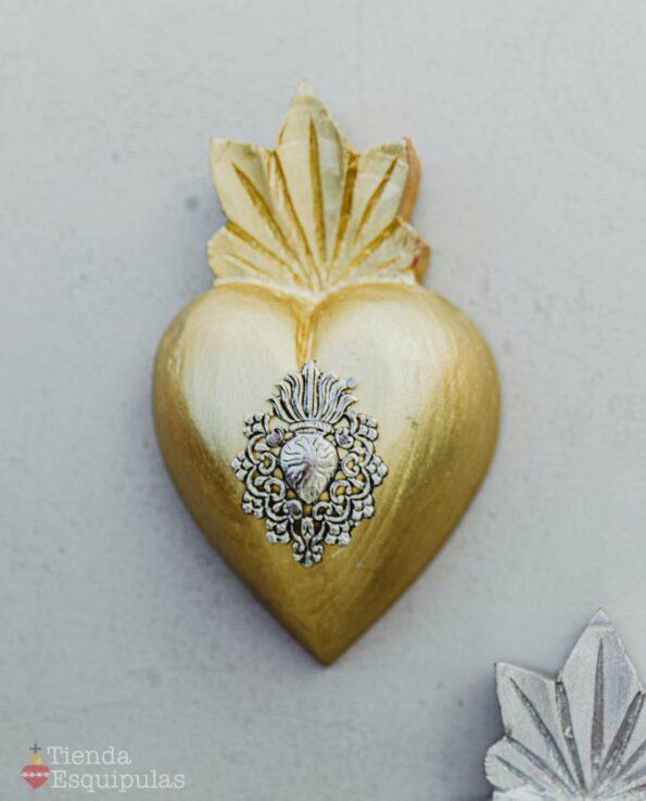 Coeur milagro couleur dorée