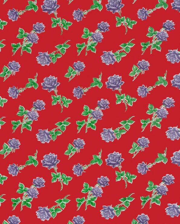 Toile cirée (par rouleau de 11m*120cm), Rosas rouge