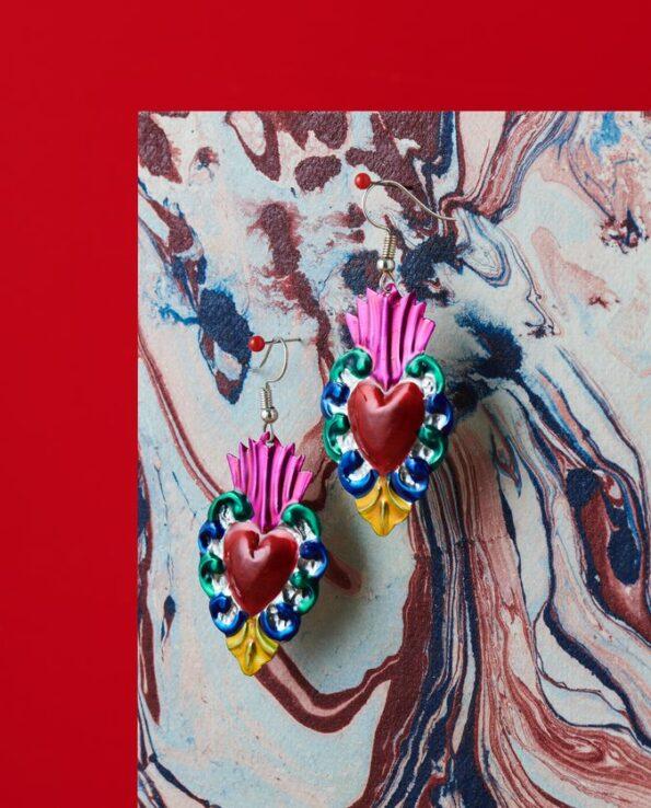 Boucles d'oreille coeur ex-voto - Barroco