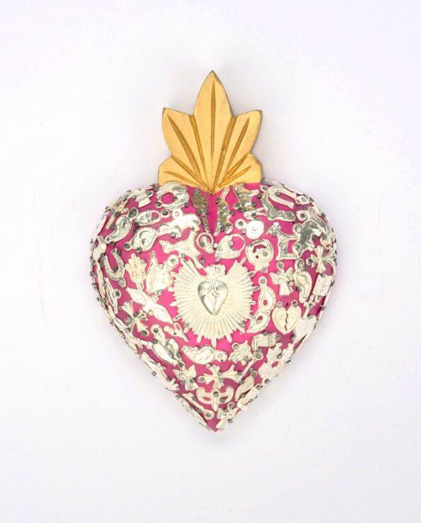Coeur serti classic - Rose